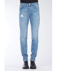 Marcelo Burlon Distressed Slim Jeans - Blue