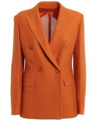 Max Mara Double-breasted Blazer - Orange