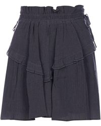 Étoile Isabel Marant High Waisted Ruffled Skirt - Black