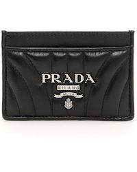 Prada - Leather Cardholder - Lyst