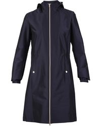 Herno Hooded Zip-up Coat - Blue