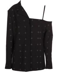 Coperni Asymmetric Tailored Jacket - Black