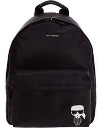 Karl Lagerfeld Logo Print Backpack - Black