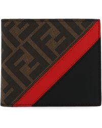 Fendi Ff Motif Bifold Wallet - Red