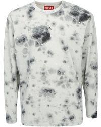Diesel Red Tag X A-cold-wall* Tie-dye Crewneck Sweatshirt - Gray
