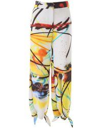Off-White c/o Virgil Abloh Pants With Knots - Multicolor