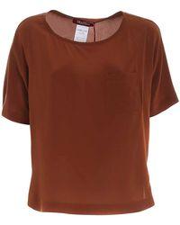 Max Mara Studio Patch Pocket T-shirt - Brown