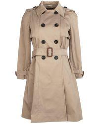 Miu Miu Belted Trench Coat - Natural