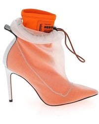 Heron Preston Heeled Drawstring Ankle Boots - Orange