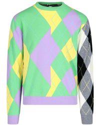 Versace Men's A88448a2375206x090 Green Cashmere Jumper