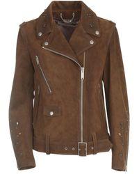 Golden Goose Deluxe Brand - Belted Biker Jacket - Lyst
