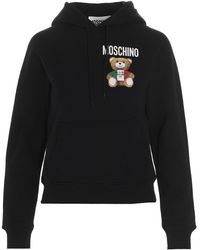 Moschino Italian Teddy Bear Hoodie - Black