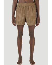 Gucci Waterproof GG Swim Shorts - Natural