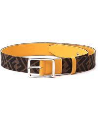Fendi Ff Motif Jacquard Belt - Orange