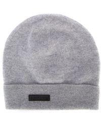 Ermenegildo Zegna Knitted Beanie Hat - Grey