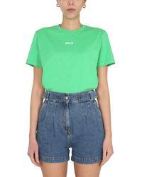 MSGM - Crew Neck T-shirt - Lyst
