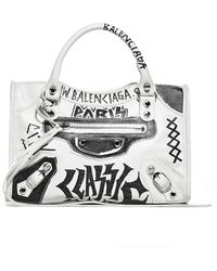 Balenciaga Classic Mini City Crossbody Bag - White