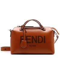 Fendi By The Way Medium Boston Bag - Brown