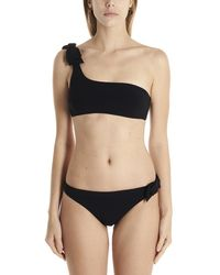 Zimmermann Zinnia Bow One-shoulder Bikini - Multicolour
