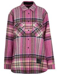 we11done - Checked Overshirt - Lyst