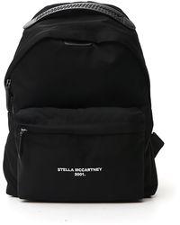 Stella McCartney Falabella Logo Go Backpack - Black