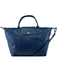 Longchamp - Le Pliage Cuir Top Handle Bag - Lyst