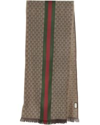 Gucci GG Jacquard Knitted Scarf - Multicolor