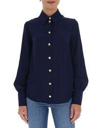 Gucci Crêpe De Chine Shirt - Blue