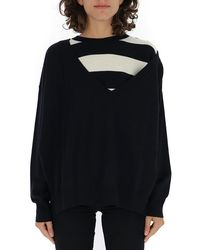 Sonia Rykiel Striped Layered Oversize Sweater - Black