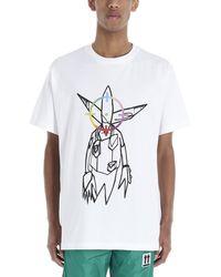 Alion Men Sheer Floral Lace See Through Button Shirt White XL