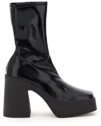 Stella McCartney Platform Square-toe Boots - Black