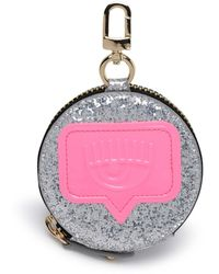 Chiara Ferragni Logo Embossed Circle Coin Purse - Metallic