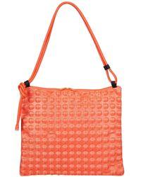 Pleats Please Issey Miyake Puchi Puchi Shoulder Bag - Orange