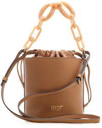 RED Valentino Redvalentino Chain-detailed Bucket Bag - Brown