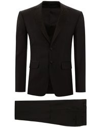 DSquared² London Fit Suit With Crystals - Black