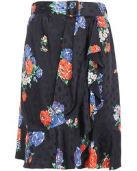 Tory Burch - Floral Printed Skirt - Lyst
