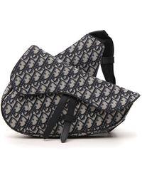 Dior Saddle Oblique Jacquard Shoulder Bag - Multicolour