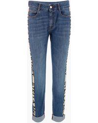 Stella McCartney Stripe-detailed Skinny Boyfriend Jeans - Blue