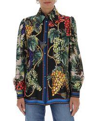Dolce & Gabbana Tropical Print Blouse - Multicolor