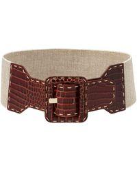 Max Mara Elcocco Belt - Brown