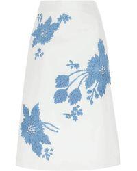 Prada Cotton Skirt - White