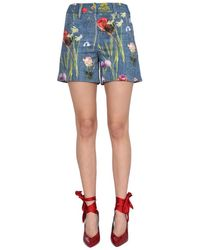 Boutique Moschino Drill Shorts - Blue
