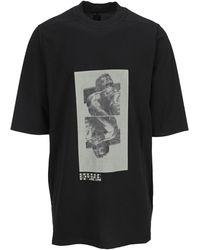 Rick Owens DRKSHDW Jumbo Graphic Printed T-shirt - Black