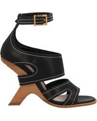 Alexander McQueen Alaxander Mcqueen No.13 Wedged Sandals - Black