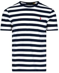 Polo Ralph Lauren Logo Striped T-shirt - Blue