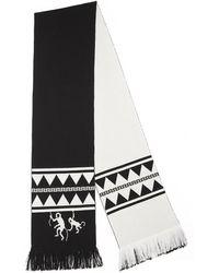 Alanui Lmma001f190040071001 Colour Wool Scarf - Black