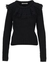 Philosophy Di Lorenzo Serafini Ruffled Knitted Sweater - Black