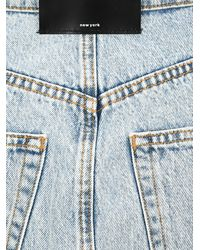 Alexander Wang Asymmetric Distressed Denim Skirt - Blue