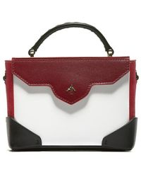 MANU Atelier - Micro Bold Logo Crossbody Bag - Lyst