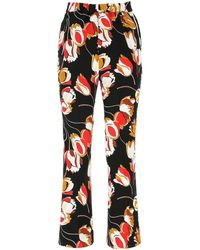 Marni Floral Print Flared Trousers - Multicolour